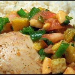 Island Mojito Chicken and Rice With Salsa Tropicale recipe