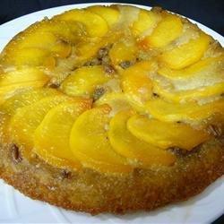 Peach Amaretto Upside-Down Cake recipe