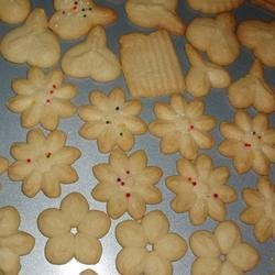 Swedish Ground Almond Spritz Cookies recipe