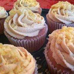 PBJ Cupcakes - Berry Cupcakes with Peanut Butter Frosting recipe