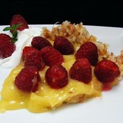 Raspberry-Lemon Pie In a Toasted Coconut Crust recipe
