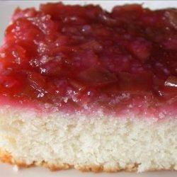 Rhubarb Upside Down Cake II recipe