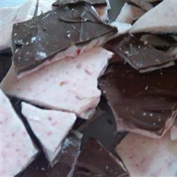 Chocolate-Dipped Peppermint Bark recipe