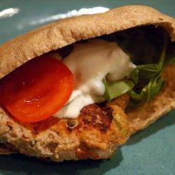 Chicken Pita Burger recipe