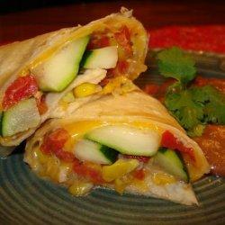 Mexican Zucchini and Corn Burrito recipe