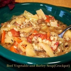 Beef Vegetable and Barley Soup recipe
