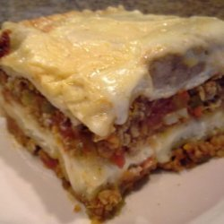 Classic Lasagna With Meat Sauce, Tomatoes and Bechamel Sauce ( L recipe
