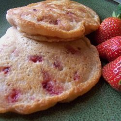 Healthy, Vegan and Terrific Strawberry Pancakes recipe