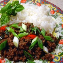 Minced Beef With Chilli, Garlic & Holy Basil recipe