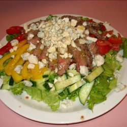 Grilled Steak Salad With Crumbly Bleu Salad Dressing recipe