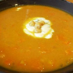 Moroccan Sweet Potato and Chickpea Soup recipe