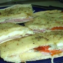 Filled Focaccia With Ham and Melted Fontina recipe