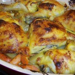 Honey Mustard Roasted Chicken recipe