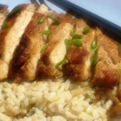 Teriyaki Chicken With Ginger Chive Rice recipe