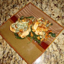 Chicken Scallops With Spinach And Blue Cheese recipe