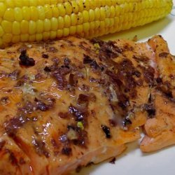 Salmon Cutlet With Olive and Mustard recipe