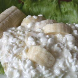 Sweet Cottage Cheese and Bananas recipe