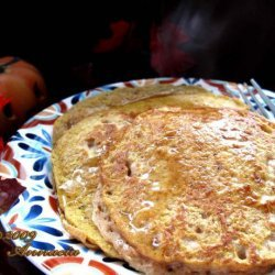 Healthy Pumpkin Spice Pancakes recipe