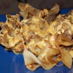 Cheesy Beef Noodles recipe