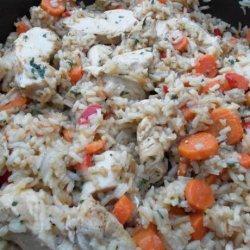 Chicken Carrot Pilaf recipe