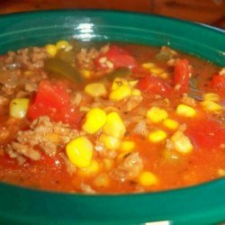 Crock Pot Easy Vegetable-Beef Soup recipe
