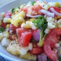 Sweet Corn & Tomato Salad With Fresh Cilantro recipe