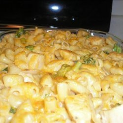 Macaroni and Cheese With Broccoli and Chicken recipe