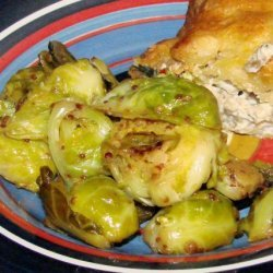 Maple and Dijon Glazed Brussels Sprouts recipe