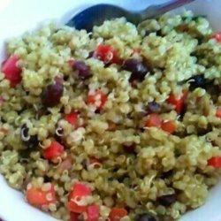 Black Bean & Quinoa Salad With Cilantro Lime Vinaigrette recipe