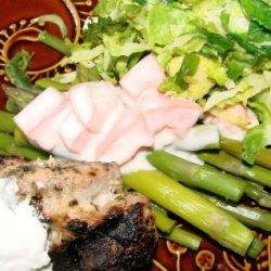 Asparagus With Fresh Tomato Yogurt Sauce recipe