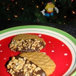 Chocolate Dipped Peanut Butter Cookies recipe