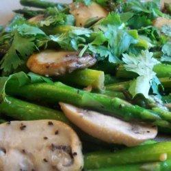 Stir Fried Asparagus With Mushrooms recipe