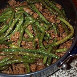 Chinese Ground Pork and  Green Beans recipe