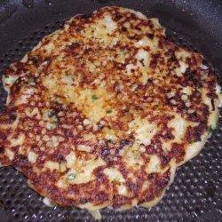 Sour Cream and Chive Potato Pancakes recipe