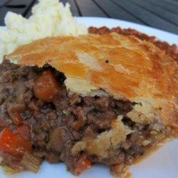 British Beef and Onion Pie recipe