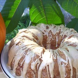 White Chocolate Ribbon Pumpkin Cake With Maple Glaze recipe