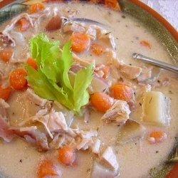 Creamy Turkey Soup (Crock Pot) recipe