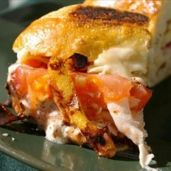Grilled Tomato, Smoked Turkey, and Muenster Sandwich recipe