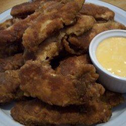 Rachael Ray's Pretzel-Crusted Chicken Fingers and Zucchini recipe