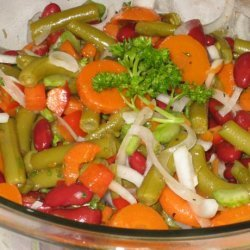 My Mother's Bean and Carrot Salad recipe