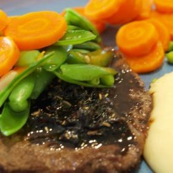 Pan Seared Steaks With Balsamic Onions recipe