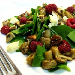 Warm Mushroom and Spinach Salad recipe