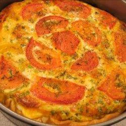 Crustless Zucchini and Tomato Quiche recipe