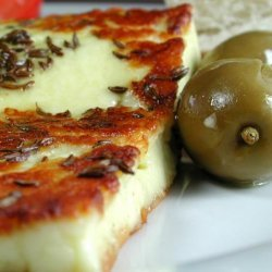 Fried Halloumi With Caraway recipe