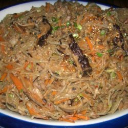 Chapchae (Noodles With Beef and Mixed Vegetables) recipe