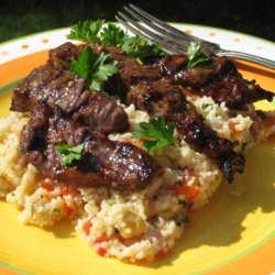 Moroccan Beef With Honey Spice Couscous recipe