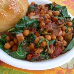 Tamarind-Spiced Chickpeas and Spinach recipe