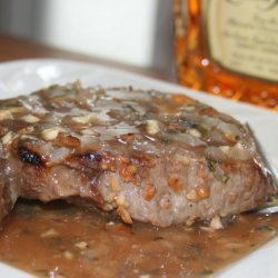 Flank Steak With Whiskey Sauce recipe