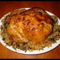 Roast Chicken With Rice and Pine Nut Stuffing recipe