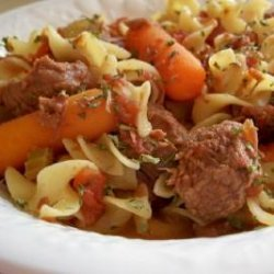 Slow Cooker Beef Noodle Stew recipe